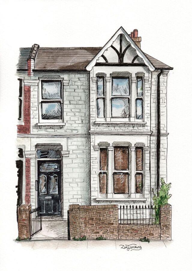 Lovely End Terrace House Portrait