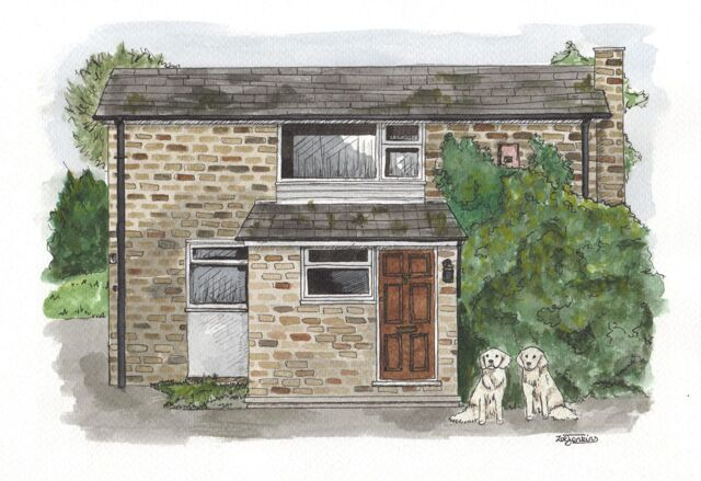 Water Colour House Painting