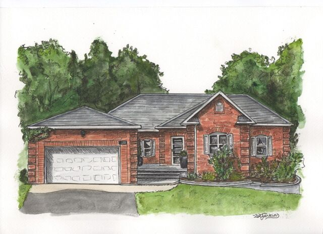 Water Colour House Painting from Photo