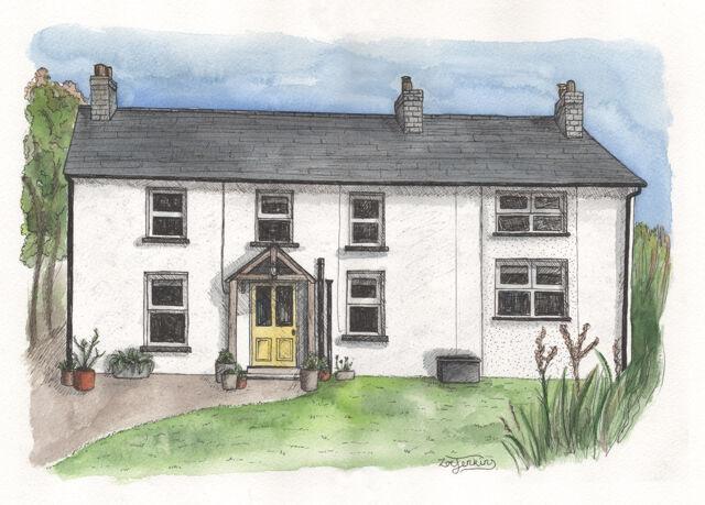 Welsh Cottage Holiday Home Portrait