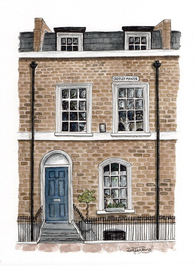 London Town House Water Colour