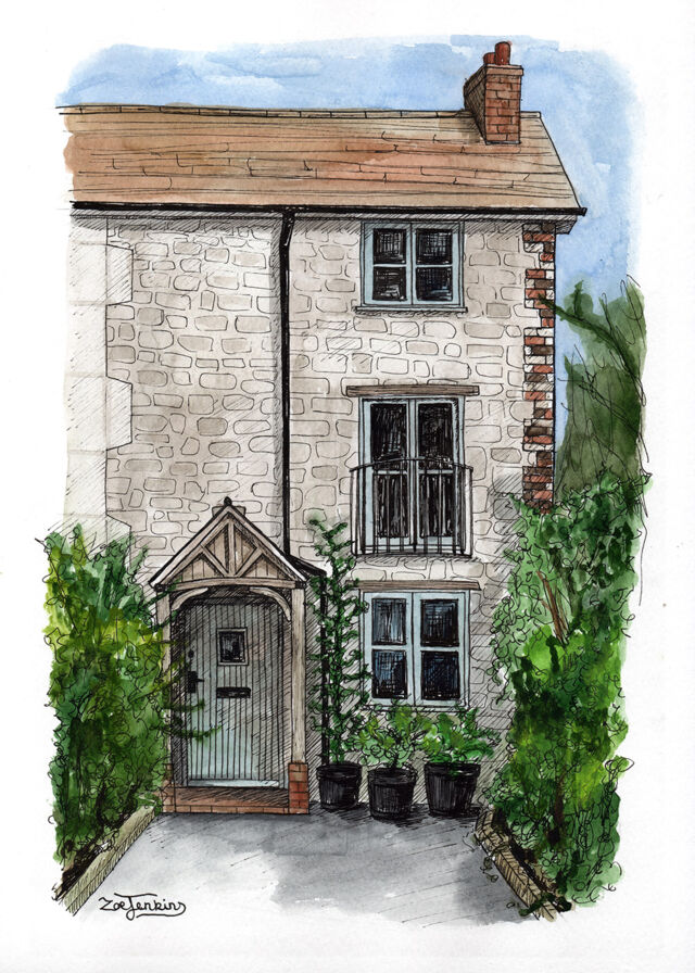 Brick Country Home Painting