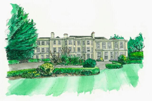 Burnham Beeches Hotel - Water Colour Illustration