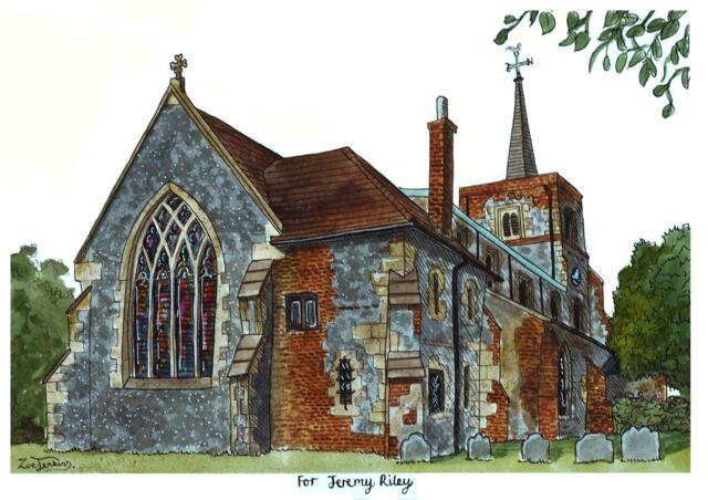 Church Watercolour Painting