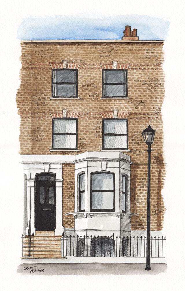 London Town House Portrait