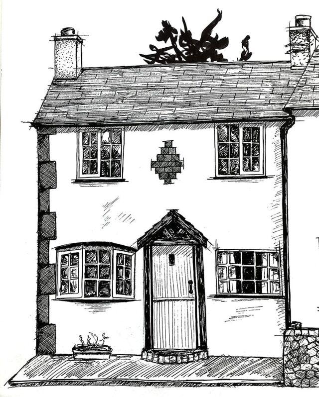 Original House Line Drawing