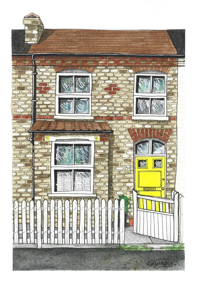 Terraced House Drawing