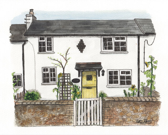 Lovely Country Cottage Portrait