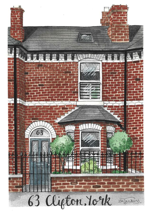 London Townhouse Painting
