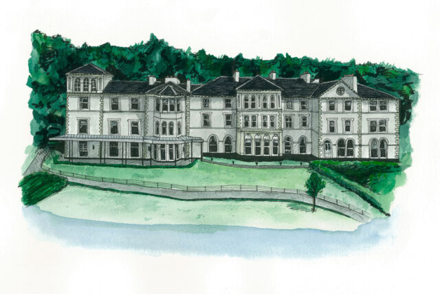 Belsfield Hotel Water Colour Illustration